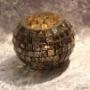 Ljuslykta Maja Artisan Mosaic round small