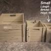 Vita trälådor vintage - Small