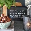 Majas rektangulära Kärlek och Fika-brickor - Kärlek och Fika svart bricka