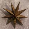 Adventsstjärna brons/glitter (9-uddig)