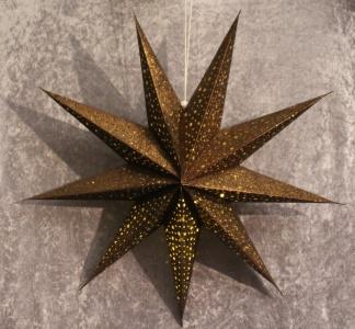 Adventsstjärna brons/glitter (9-uddig) -