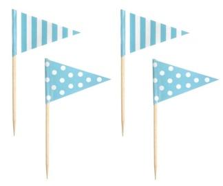 Halva priset!! Jabadabado ljusblå cake picks -