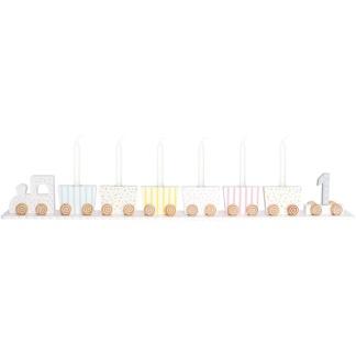 Jabadabado Ljusstake födelsedagståg pastell -
