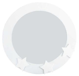 Jabadabado Barninredning spegel med stjärnor - vit -