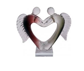 Konstglas Par Ängelhjärta -