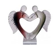 Konstglas Par Ängelhjärta