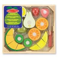 Leksaker - Frukt-set i trä 18 delar