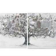 Tavla halvt träd