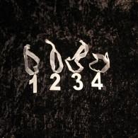 Sifferset 1-4 med sidenband för kronljus