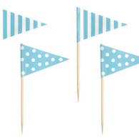 Halva priset!! Jabadabado ljusblå cake picks