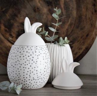 Rabbit Jar - Liten med vitt lock - Rabbit Jar - exempelbild