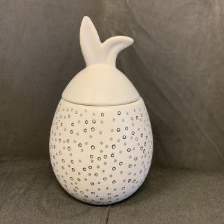 Rabbit Jar - Liten med vitt lock - Rabbit Jar - Liten med vitt lock - prickig