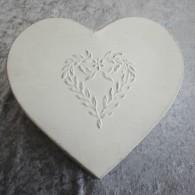 Plåtburk hjärta - stor 25 cm