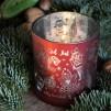 Ljuslykta Majas Nötknäpparen, röd 7 x 8 cm