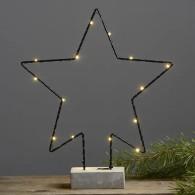 Cemmy Stjärna 36 cm batteridriven ljusdekoration med LED-lampor