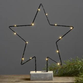 Cemmy Stjärna 36 cm batteridriven ljusdekoration med LED-lampor -