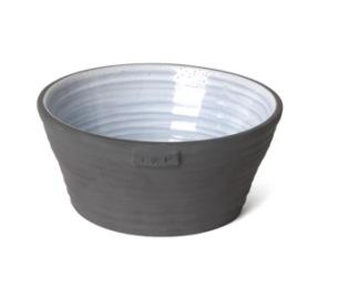 Djup skål i keramik, gråblå från