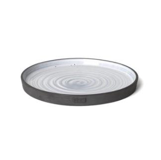 Tallrik 25 cm i keramik, gråblå från