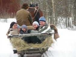 På vintern är det släde som gäller!