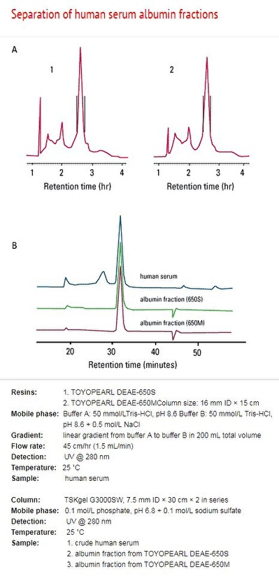 Separation of human serum albumin fractions