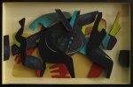 Plywoodrelief, tempera, 30x45 cm