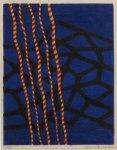 7) Blå botten, 25x19 cm, träsnitt, u.50