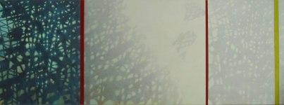 MOTLJUS, olja, 85x240 cm