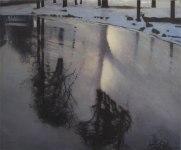 Spegling,olja,50x70 cm