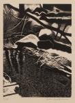 Vinter,träsnitt,20x15 cm