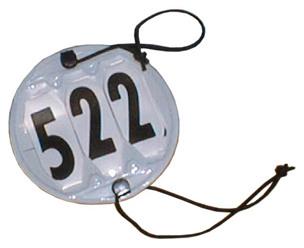 Nummerbricka för träns  - Nummerbricka för träns