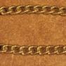 Hingstkedja   - Hingstkedja mässing smal  45 cm