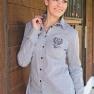 Skjorta milano från HKM  - Skjorta Milano Vit/ränder stl: M