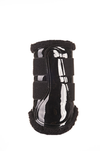 Skydd Patent Comfort Brushing Boots - Colourful  - Skydd svarta stl:S