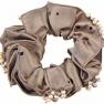 Hårband med pärlor   - Hårband med pärlor brun