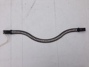 Döbert Classic Swarovski pannband  - Svart med stora kristaller och små grå kristaller stl: full