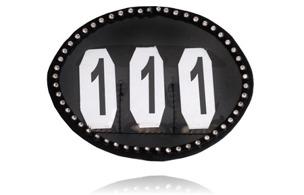 Nummerlapp med kristaller från SD Design - svart