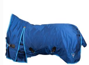 BR täcke med halvhals 250g - blått stl 145
