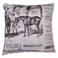 Nostalgikudde -HORSES- ridhäst, 35 x 35cm