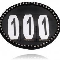 Nummerlapp med kristaller från SD Design