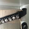 Döbert pannband - Svart med stenar och pärlor