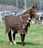 Fleecetäcke med fast hals - Brunt storlek 135