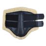 Benskydd med teddyinsida - svarta XL