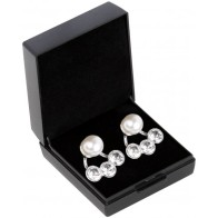 SD® TRIOLOGY EARRINGS IN CREAM PEARL. B-137