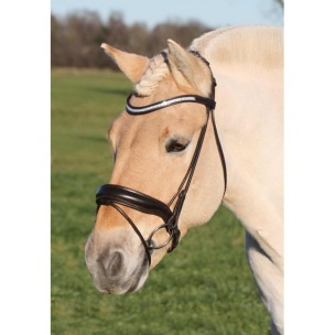 SD® CROWN BELLINI ROLLED BRIDLE WITH GEL PADDING. BROWN/BROWN - Brunt X-Full