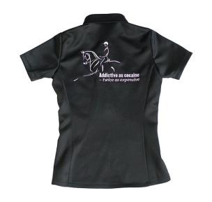 Horseaddict Pikétröja stretchigt funktionsmaterial - S
