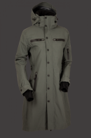 MID LENGTH TRENCH COAT URBAN CHICK GREEN