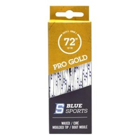 Blue Sports Pro Gold Heavy waxed skridskosnören - Blue Sports Pro Gold 183 cm White/navy