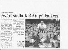 Artikel i lokaltidningen Ljusnan