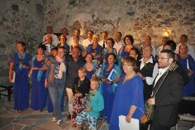 Konserten i Castrot på Naxos. Klicka på bilden för att få större format.