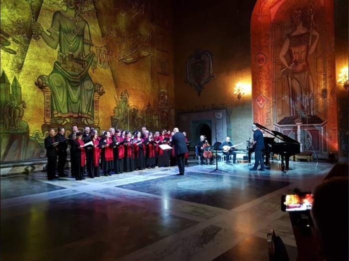 Orfeas sjunger i Stadshuset, feb 2019